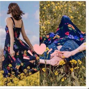 Maeve Vivienne Floral Corset Flowy Romantic dress